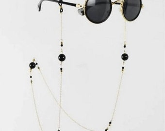 Sunglasses with Gold Chain