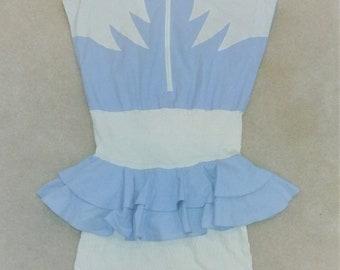 Vintage Sleeveless Ruffled Peplum Dress Size 11/12
