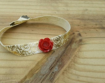 Belle inspired choker, Beauty and the beast, disney, disney princess, disney choker, disney necklace, belle, cosplay