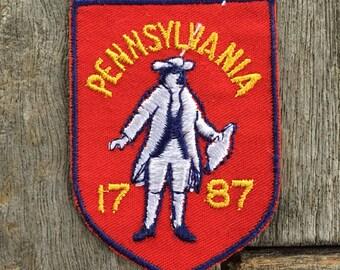 Pennsylvania 1787 Vintage Souvenir Travel Patch from Voyager