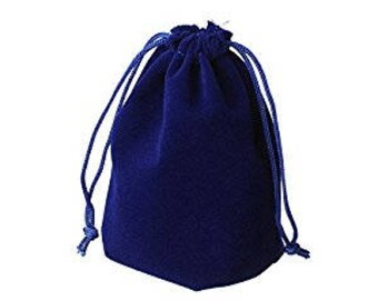 Jewellery Bag, Jewellery Pouch,  Velour Pouch, Jewellery Protector, Drawstring Pouch, Velvet Pouch, Blue Pouch, Blue Bag, Luxury
