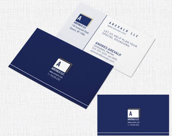 100 Business Card  2 x 3.5 - Style Corporate Square
