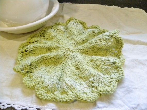 Gracie Wash Cloth-Doily Knitting PATTERN-Downloadable File