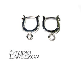 925 Sterling Silver Lever-Back Earring with Open Ring, Lever Back Ear Wires,Silver earrings, 925 silver, Sterling silver - 1 pair (2 pieces)