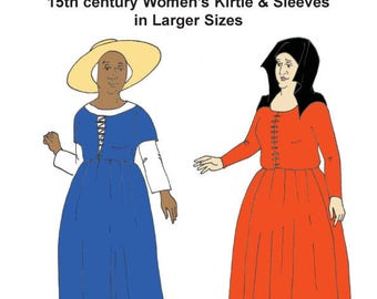 RH002 – 15th century Women's Kirtle & Sleeves IN LARGER SIZES