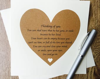Thinking Of You Card, Fathers Day Card, Loss Of A Father Card, Sympathy card, Bereavement card, Inspiring Words