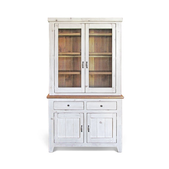 Attractive Sideboard Hutch Farmhouse Reclaimed Wood Buffet China PQ43