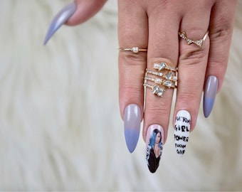 Cardi B |Press On Nails | Cardi B Nails | Fake Nails | Any Shape and Size | Ombre Nails | Gel Nails | Purple Nails | Purple Ombre