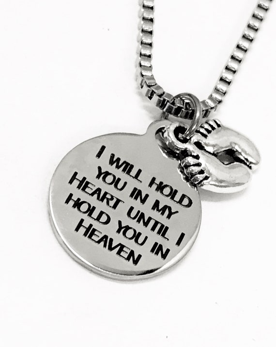 Child Loss Memorial, Miscarriage Memorial, I Will Hold You In My Heart Until I Hold You In Heaven, Memorial Gift For Men, Gift for Him