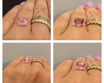 3 ct Natural Pink Tourmaline Asher  cut. Natural Gemstone. Video available