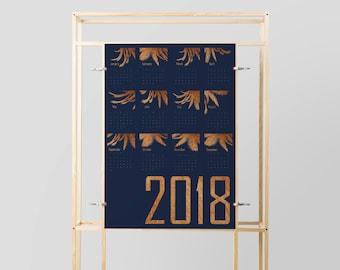 Wall Calendar, 2018 Calendar, Office Calendar, Printable Calendar 2018, Printable Calendar Calendar 2018, 2018 Wall Calendar Yearly Calendar