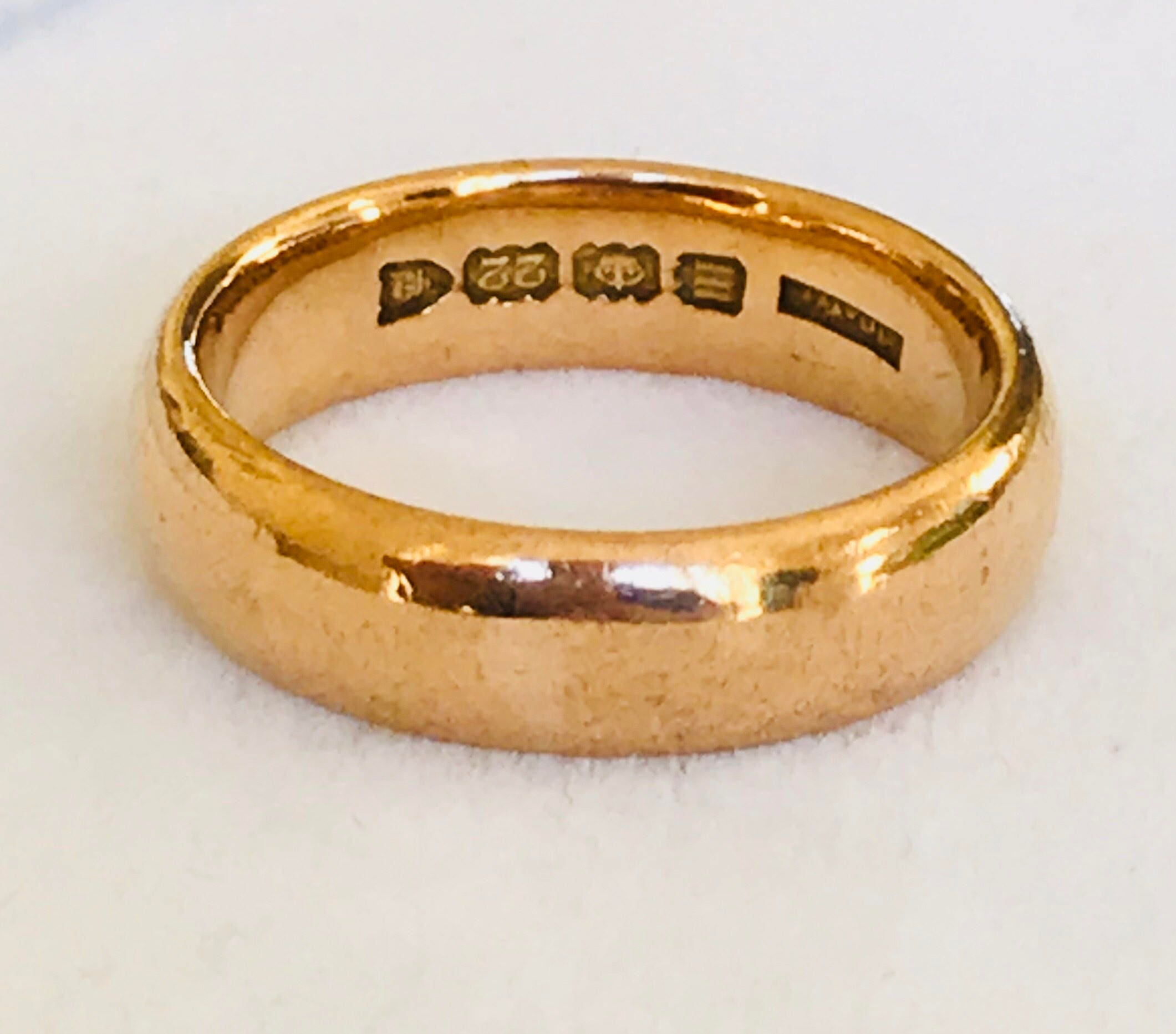 wedding band products ring fetheray gold vintage yellow rings utility antique