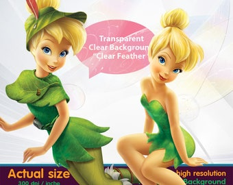 Tinkerbell 2 clipart  -  Digital 300 DPI PNG Images, Photos, Scrapbook, Cliparts - Instant Download