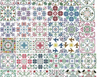 Cross Stitch Biscornu Pack 4