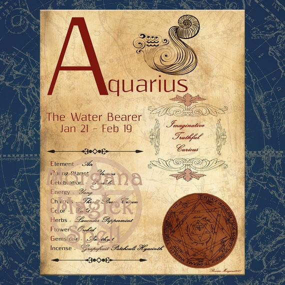 AQUARIUS ZODIAC, Digital Download