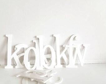 Vintage White Letters