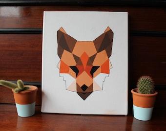 Cubist Fox Painting