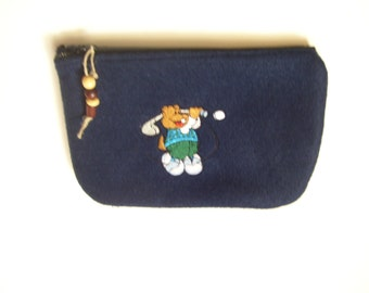 Embroidered Man's Golf Zippered Bag