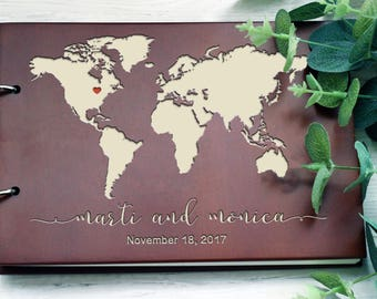 Map guest book etsy wedding guest book map guest book travel guest book travel album wedding gumiabroncs Image collections