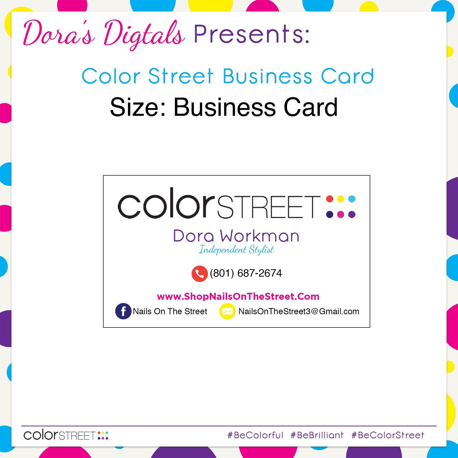 Color Street Business Card 1 Custom Digital Download
