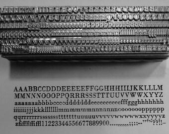 12 point Bodoni roman 3A, Letterpress Metal Printing Type, upper & lower case