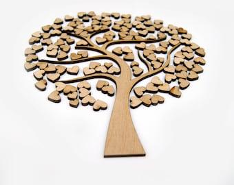 family tree frame Laser Cut Poplar Wood Tree DIY, Frame tree, personalised Frame set