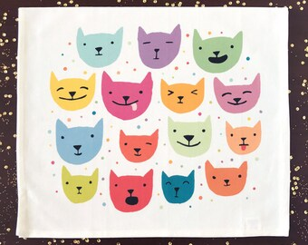 Cat Confetti Kitchen Towel
