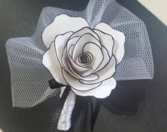 Pink Paper Eyelet Flower