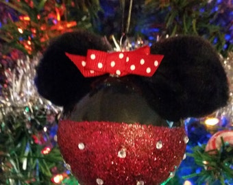 Minnie Mouse Inspired Ornament Ball