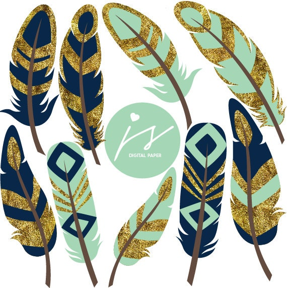 mint feathers feather clipart gold clipart glitter clipart rh etsy com feather clipart black and white feather clip art black and white