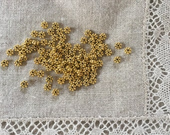 50 Pcs. Spacer Beads, Finding Antique Gold Color