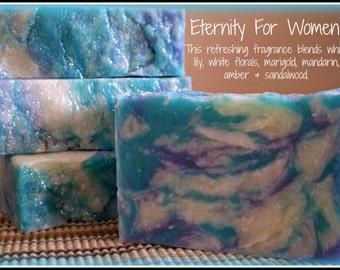 Eternity For Women - Rustic Suds Natural - Organic Goat Milk Triple Butter Soap Bar - 5-6oz. Each
