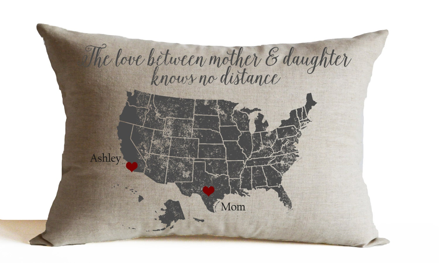 Love Between Mother Daughter Pillow Cover Mothers Day