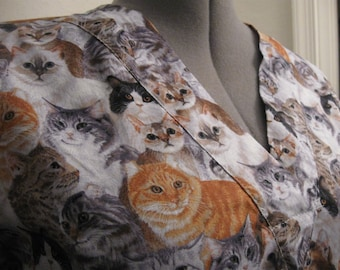 PACKED cats scrub top size  XL