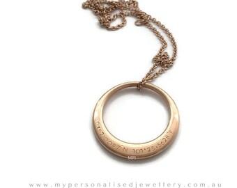 Custom Coordinates GPS offset Necklace, Personalised Latitude Longitude, wife, girlfriend, anniversary, long distance gift wedding mum large
