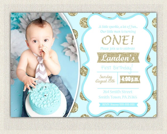 1st birthday invitation gold and blue prince invitations gold like this item filmwisefo
