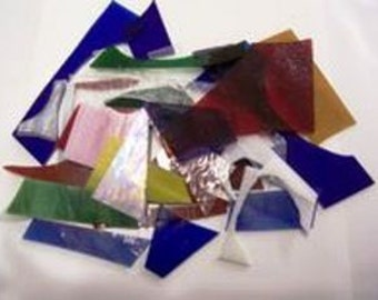 Stained Glass Scraps 2lbs. Great for mosaics & small suncatchers