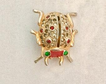 Coro ladybug perfume pin brooch