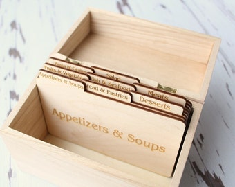 Recipe Card Dividers | Recipe Box Dividers | Free Shipping
