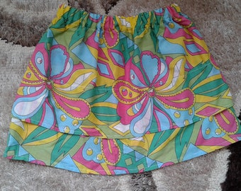 Girl's skirt colors bright floral 14 years