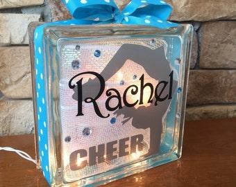 Cheerleader Handspring GemLight, Accessories, Cheerleader Gifts, Cheerleading Gifts, Sports Decor, Personalized