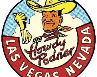 Vintage Style Vic Nevada  Las Vegas  casino  Travel Decal sticker