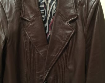 Ladies Dark Espresso 100% Leather Jacket
