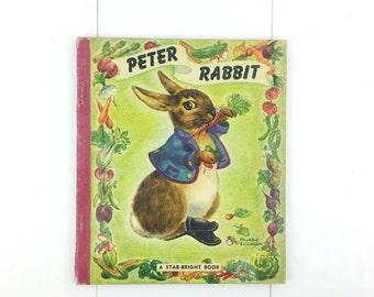 Vintage 1947 Peter Rabbit Star-Bright Children's Book