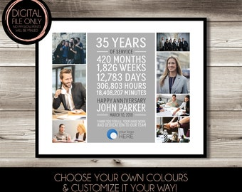 25 Year Work Anniversary Print Gift Digital Print