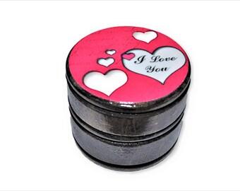 I Love You Wood Trinket Ring Box