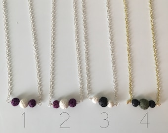 Essential oil diffuser necklace - You choose your favorite! - Lava bead necklace
