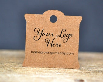 """90 tags - 1.5"""" - Customized Small Price Tags Jewelry Hang Tags Labels"""