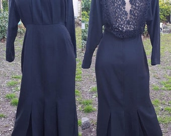 Little Black Dress, Vintage Dress, 80s Dress, 80s Cocktail Dress, Lace Dress, Vintage Party Dress, Mother of the Bride, Vintage Wedding