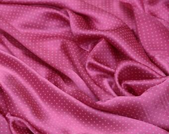 ON SALE - Silk Satin/Crepe Satin - 15mm Dark Pink Silk Satin - 100% Fine Silk Fabric for Pants/Blouses/Dresses -1 yard